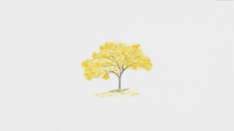 watercolour Ipê amarelo