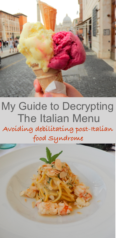 Guide to Decrypting the Italian Menu by Footloose Lemon Juice