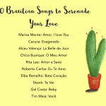 Brazilian songs to serenade your love graphic