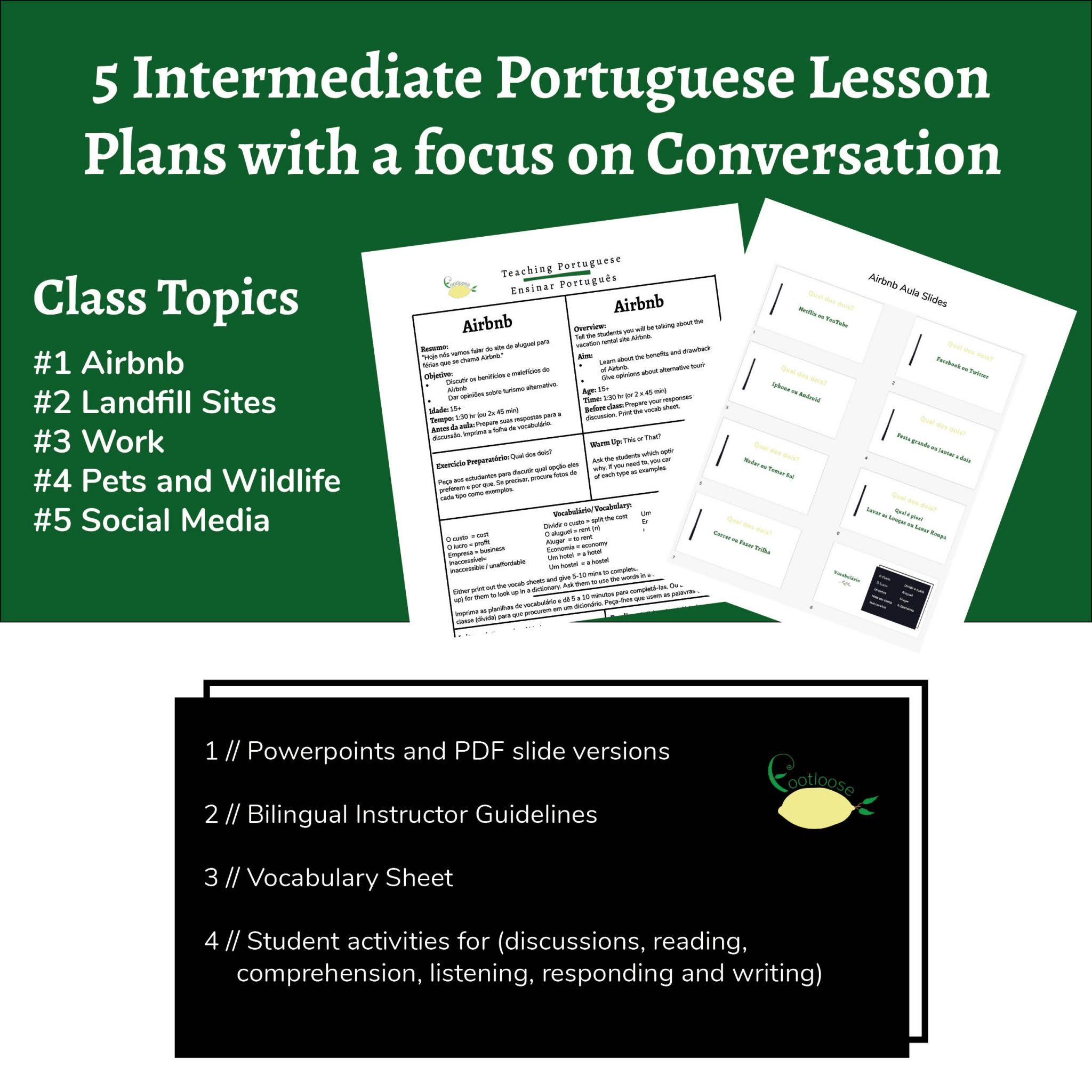 Portuguese lesson Product Image