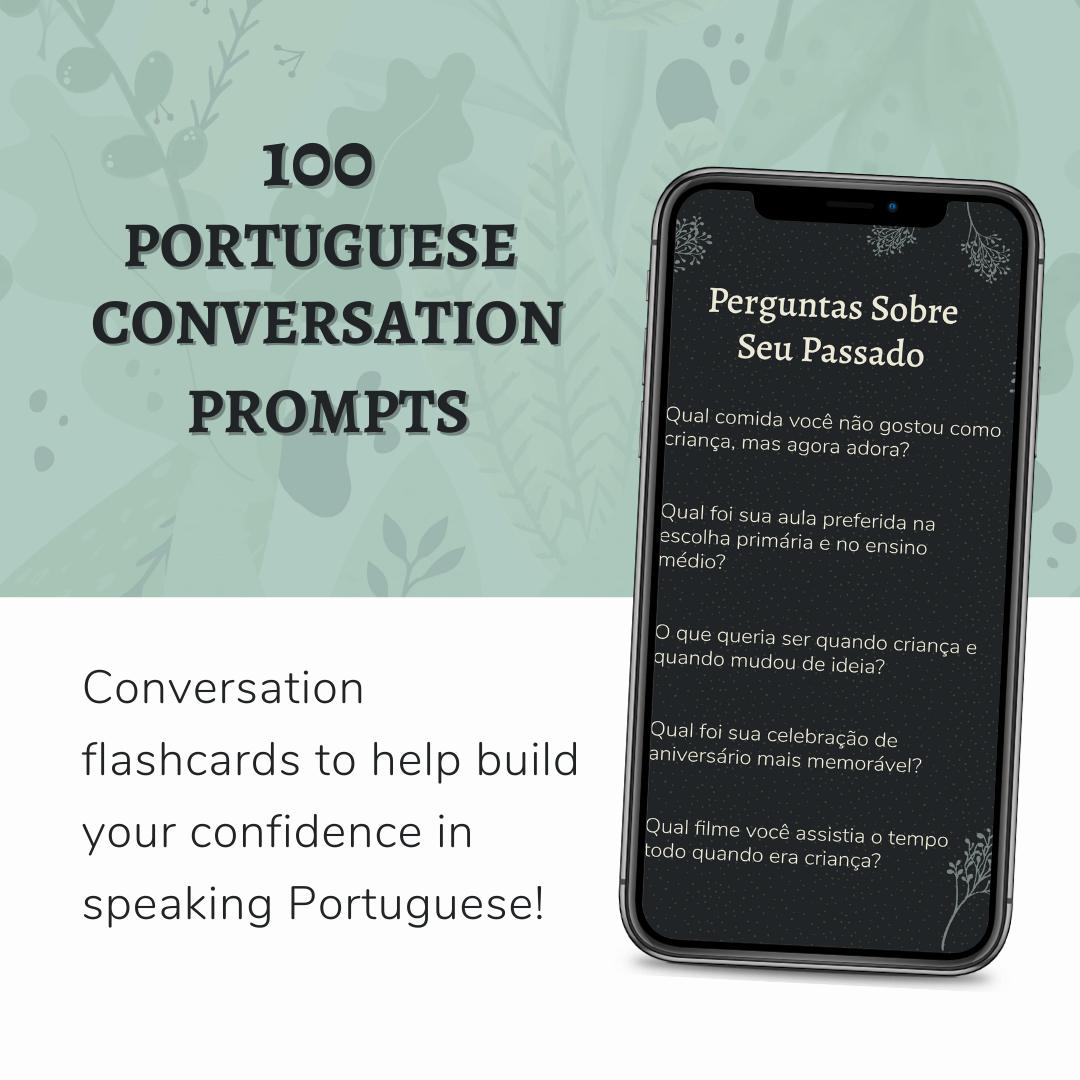 Portuguese Conversation Prompt mockup 1