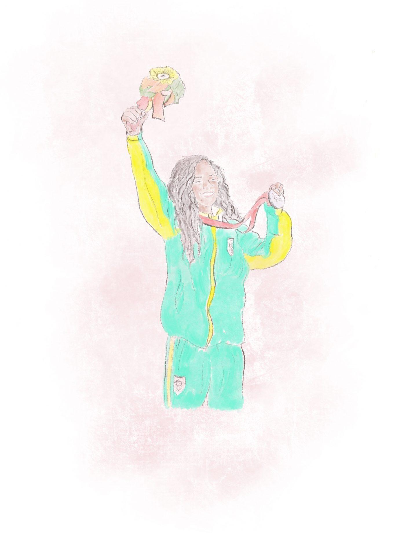 Brazilian skateboarder Rayssa Leal Illustration